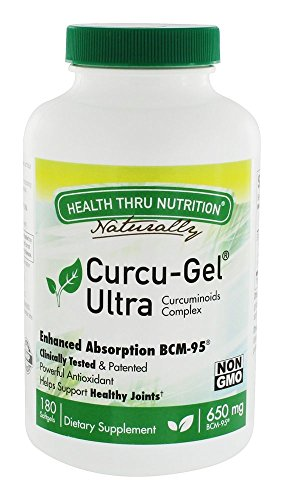 Health Thru Nutrition - Curcu-Gel Ultra Antioxidant Curcuminoids Complex 650 mg. - 180 Softgels by Health Thru Nutrition