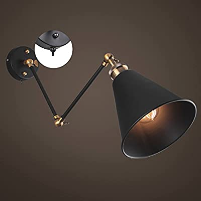 Vintage Industrial Adjustable Swing Arm Light Sconce Wall Lamp Fixture Home Loft