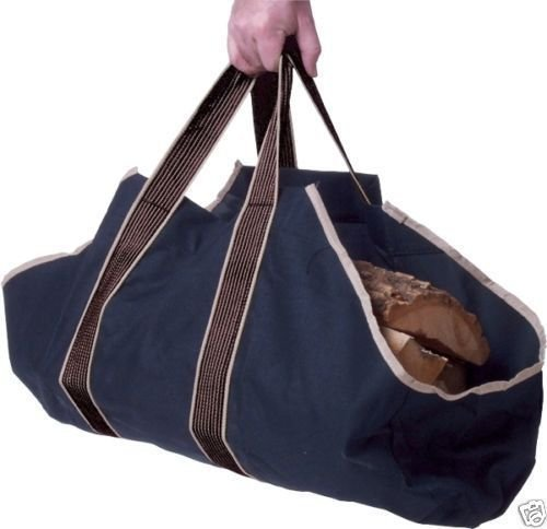 Bakaware Heavy Duty Canvas Log Bag - Ideal for Fireplace / Wood Holder / Storage / Tote S&MC Homeware