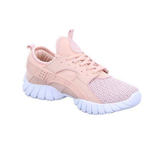 Sneakers 705108-R Damen Schnürhalbschuh Rosa (Rosa)