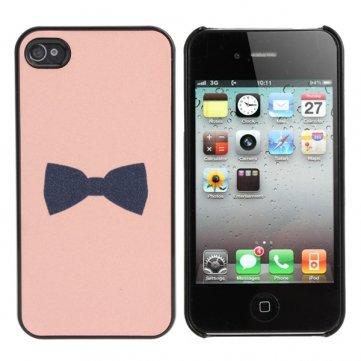 [Envoi GRATUIT 7~12 jours] mignon depoli noir Bow retour en plastique cas couvrir la peau pour iPhone 4 4 s // Cute Frosted Black Bow Back Plastic Case Cover Skin For iPhone 4 4s