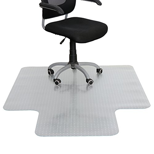 ZENSTYLE 48'' X 60'' 1/8'' Carpet Chair Mat w/Lip, Transparent Chair mat for Low and Medium Pile Carpets by ZENSTYLE