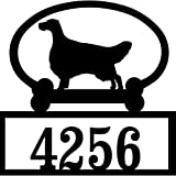 Personalized English Setter House Number Sign