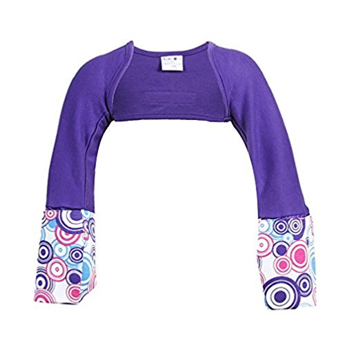 Scratch Me Not Flip Mitten Sleeves, Sensitive - Organic Cotton Baby Girls' Stay On Scratch Mitts - Purple Sunshine, 3T