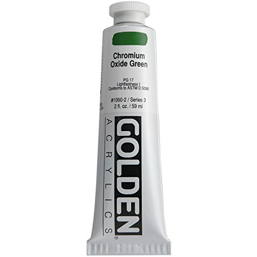 Golden Heavy Body Acrylic Paint, 2-Ounce, Chromium Oxide Gre