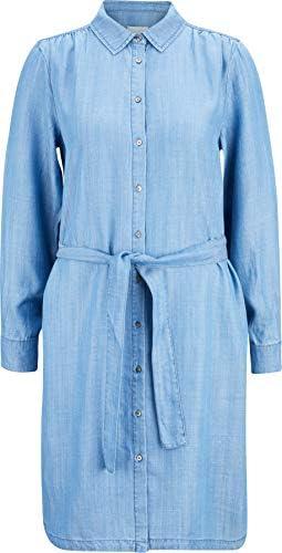 Second Female Damen Hemdblusenkleid in Mittelblau