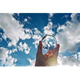 "Clear Crystal Ball Art Decor K9 Crystal Prop for Sphere Photography Decoration (60mm(2.36"")_K9 Clear No Stand)"