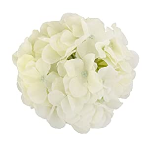 WINOMO Artificial Silk Hydrangea Flowers for Home Wedding Decoration 20pcs (White) 7