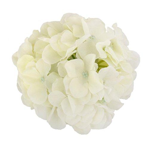 WINOMO 20pcs Silk Hydrangea Flowers for Home Wedding Decoration (White) (Flowers Prima Silk)