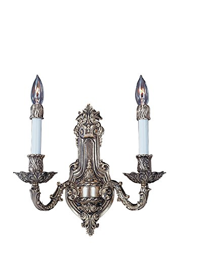 Framburg 8702 FB 2-Light Napoleonic Sconce, French Brass