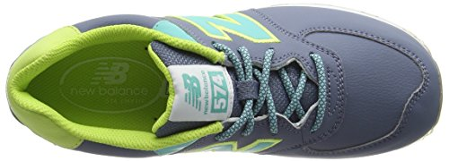 New Balance Kl574z5y-574, Zapatillas Altas Unisex Niños Multicolor (Yellow/Aqua 737)