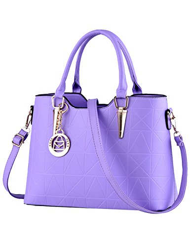PU Shoulder Bags Hand Handle Purple Bag 34cm body Bags Bag Cross Women's H6SOawdqa