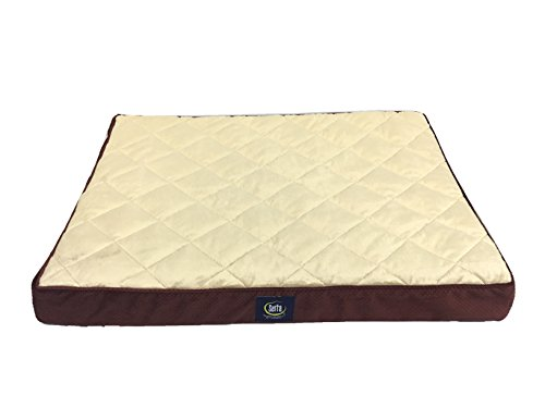 Serta Quilted Pillowtop Pet Bed Cover, Large, Burgundy - Replacement Cover Only by Serta Pet