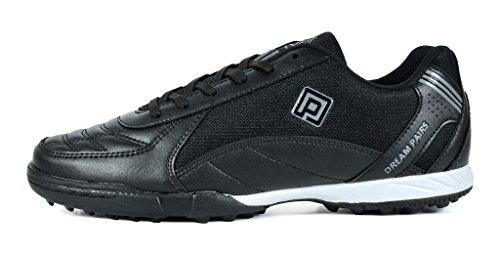 TRAUM-PAAR-Männer 160470-M athletische Fußball-Schuhe Schwarz