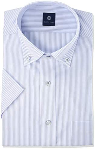 形態安定 加工 ワイシャツ ビジネスシャツ 半袖 クールビズ GCN701 メンズ