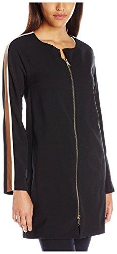 - Beatrice B. Women's Multi Stripe Sleeve Jacket, Black/Brown/White, 10 US/48 IT
