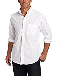 Men's Button Down Long Sleeve Stretch Performance Solid...