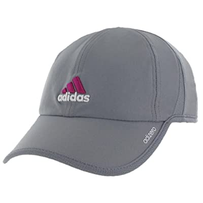 adidas Women's Adizero II Cap, Tech Grey/Clear Grey/Vivid Pink, One Size by Agron Hats & Accessories