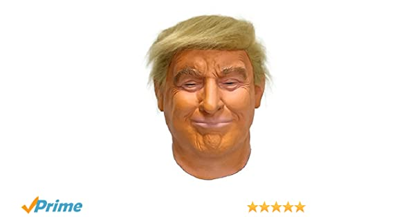 Hengyutoy Mask Máscara de Cabeza Humana de Fiesta de Traje Lujo de Halloween de Donald Trump: Amazon.es: Productos para mascotas