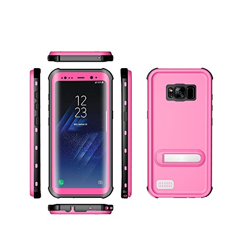 Samsung Galaxy S8 Waterproof Case, Ultra Light Waterproof Shockproof Dirtproof Diving Phone case for Samsung Galaxy S8 (Pink)
