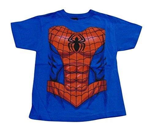 [Marvel Spiderman Suit Shirt Blue] (Blue Spiderman Suit)