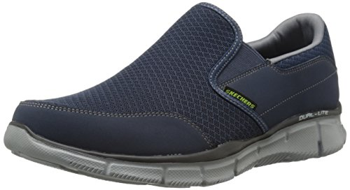 Skechers Men's Equalizer Persistent Slip-On Sneaker, Navy/Gray, 9 M US