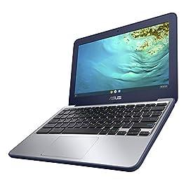 ASUS Chromebook C202XA Rugged & Spill Resistant Laptop, 11.6″ HD, 180 Degree, MediaTek 8173C Processor, 4GB RAM, 16GB Storage, MIL-STD 810G Durability, Blue, Education, Chrome OS, C202XA-YH02-BL