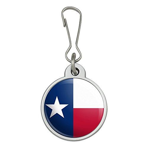 Texas State Flag Jacket Handbag Purse Luggage Backpack Zipper Pull Charm