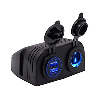 Meipire Car Motorcycle 4.2A Car Truck Motorcycle Boat USB Charger Charger + Cigarette Lighter Socket Tent Type Panel 12 / 24V DC