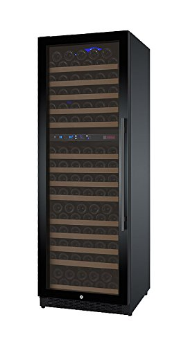Allavino FlexCount VSWR172-2BWLN 172 Bottle Dual-Zone Wine Cellar Refrigerator Black Door Left Hinge