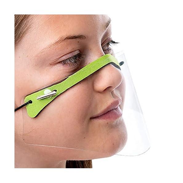 Salalooks-5-Stck-Kinder-Gesichtsschutz-Visier-aus-Kunststoff-Gesichtsvisier-Face-Shields-Safety-Spuck-Schutz-Premium-Transparent-Schutzvisier-Gesichtsschild-Wiederverwendbar-A