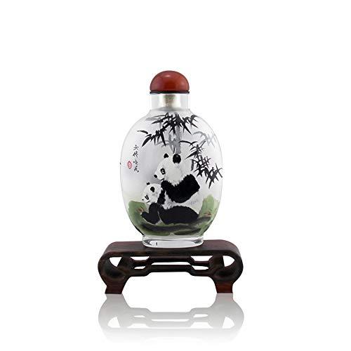 semli Chinese Handpainted Snuff Bottle Decoration Creative Inside Painted Miniature Glass Scent Bottle Perfume Bottle (Panda)