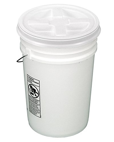 6 gallon bucket with lid - 6