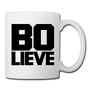Christina Bo Dallas Bo Lieve Logo Ceramic Coffee Mug Tea Cup White