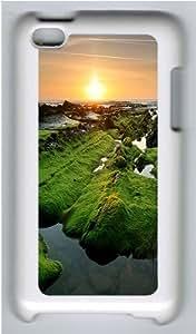 iPod 4 Case Cover,River Rocks Hard Case Cover for Apple iPod 4/ ipod 4th Generation PC Plastic White