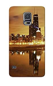 Tpu Case Cover For Galaxy S5 Strong Protect Case - Cityscapes Chicago Design