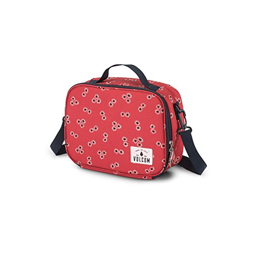 Volcom Junior's Brown Bag Reusable Lunchbox, rad red, One Size Fits All