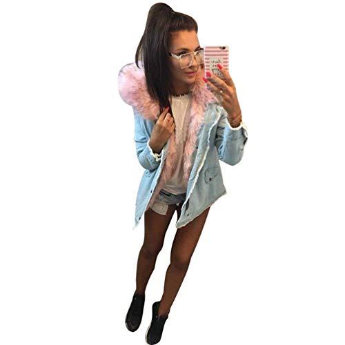 Comodo Con Cappuccio Swag Giacca Semplice Manica Glamorous Anteriori Rosa Streetwear Tasche Giaccone Autunno Donna Lunga Di Pulsante Elegante Outerwear Moda Invernali Y0YHqCw