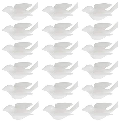 TOPMO Pack of 120 Mini Dove White Dove Decoration Bridal Wedding Decorations Shower Favor Party Supplies,1.6 inch Width
