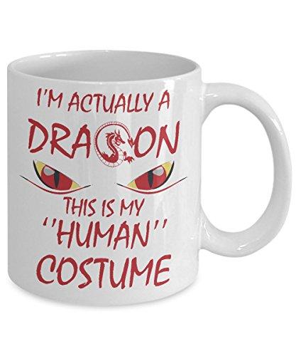 I'm Actually a Dragon Funny Halloween Costume Mug (15oz, -