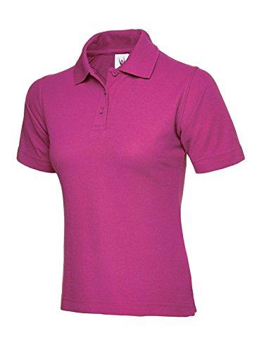 o shirt t corte a Acceso lavoro casual da da donna sport Rosa Polo stile maniche U8xCqPPw