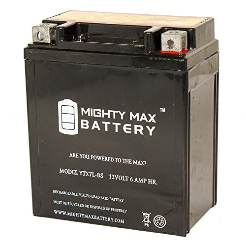 Mighty Max Battery YTX7L-BS 12v 6Ah Battery for Kawasaki 250 EX250 Ninja 1995-2007 Brand Product