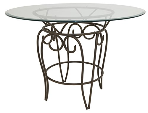 Impacterra Solar Dining Table, 42'' Diameter, Bronze/Clear Glass by Impacterra