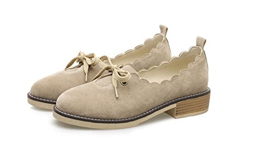 Daily Slip Office Low Shoes Women Heel Toe for Believed Walking apricot Flats On Pointy ZE0Zq8w