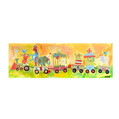 Oopsy Daisy Circus Train Stretched Art by Oopsy Daisy