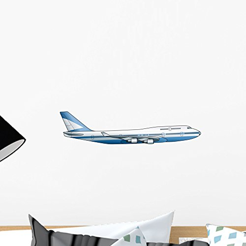 Wallmonkeys 747 Airplane Wall Decal Peel and Stick Decals for Boys (18 in W x 12 in H) WM271509 ()