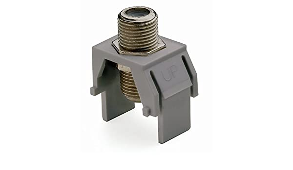 Light Almond Legrand On-Q WP3479LA10 Contractor Non-Recessed Nickel 1 GHz F-Connector Pack of 10