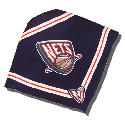 Officially Licensed New Jersey Nets NBA Basketball Dog Bandana - Small by Sporty K9
