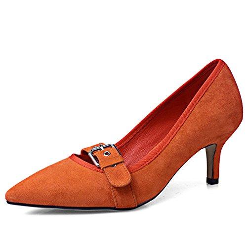 Zapatos naranjas Tacón de aguja para mujer wLz2H9TOq
