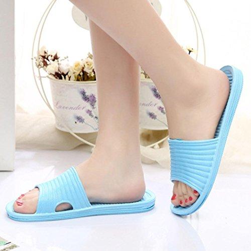 Slippers Anboo Summer Stripe Outdoor Indoor Sky Women Flat Blue amp; Sandals Bath FFUznqr